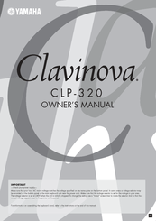 Yamaha Clavinova CLP-320 Owner's Manual