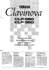 yamaha clavinova clp 360 owner s manual pdf download rh manualslib com