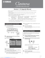 Yamaha Clavinova CVP-509 Upgrade Manual
