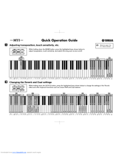 Yamaha H11 Quick Operation Manual