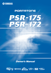 Yamaha PSR-170 Owner's Manual