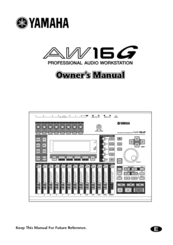 yamaha aw16g recording 101 manuals rh manualslib com yamaha aw16g manual download yamaha aw16g manual download