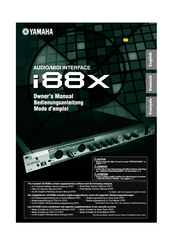 Yamaha i88x Owner's Manual