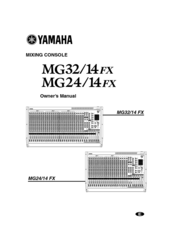 Mg32/14fx, mg24/14fx overview mixers professional audio.