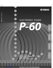 yamaha p 60 owner s manual pdf download rh manualslib com Yamaha P50 Keyboard yamaha p-60 service manual