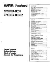 Yamaha Portasound Pss Manual