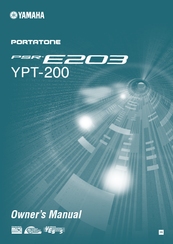 Yamaha PortaTone YPT-200 Owner's Manual