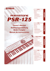 Yamaha Portatone PSR-125 Owner's Manual