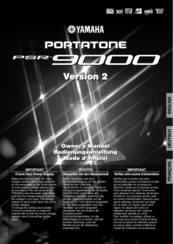 Yamaha Portatone PSR-9000 Owner's Manual