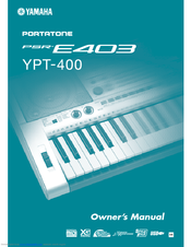 Yamaha Portatone PSR-E403 Owner's Manual