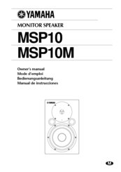 Yamaha MSP10 Owner's Manual