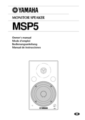 Yamaha MSP5 - Speaker - 67 Watt Owner's Manual