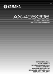 Yamaha AX-396 Owner's Manual