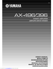 Yamaha AX-496/396 Owner's Manual