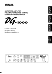 Yamaha DG-1000 Owner's Manual