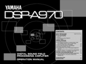 Yamaha DSP-A970 Operation Manual