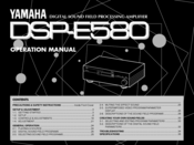 Yamaha E580 Operation Manual