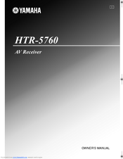 yamaha htr 5760 manuals rh manualslib com Yamaha HTR- 5540 Yamaha Receivers HTR-5760