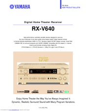 yamaha rx v640 product bulletin pdf download rh manualslib com yamaha receiver rx-v640 manual yamaha rx-v640 manual