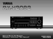 Yamaha DSP-A1092 Owner's Manual