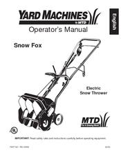 yard machine snow thrower manual