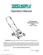 Yard-Man 106D Operator's Manual