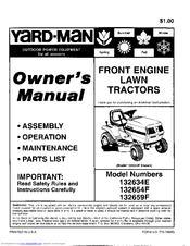 Yard-Man 132634E Owner's Manual
