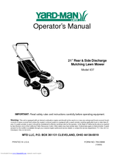 Yard-Man 437 Operator's Manual