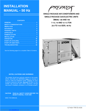 York DM120 Installation Manual