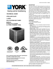York stellar plus e*fh060 user manual | page 12 / 24 | also for.