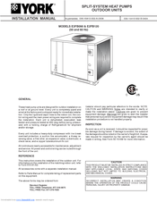 York E3fb090 Manuals