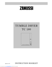 Zanussi TC 180 Manual