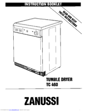 Zanussi TC 460 Instruction Booklet