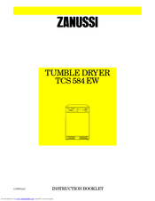 Zanussi TCS 584 EW Instruction Booklet