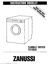 Zanussi TD150/A Instruction Booklet