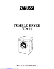 Zanussi TD164 Instruction Booklet