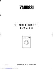 Zanussi TDS 281 W Instruction Booklet