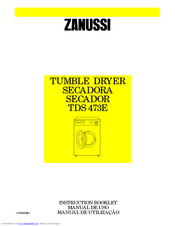 Zanussi LTE4400 Instruction Booklet