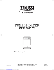 Zanussi ZDB 5377 W Instruction Booklet