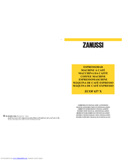 Zanussi ZCOF 637 X Instruction Manual And Installation Instructions