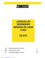 zanussi da6152 dishwasher manual best setting instruction guide u2022 rh ourk9 co Zanussi USA Zanussi Spares