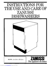 Zanussi DS 15 TCR/A Instructions For Use And Care Manual