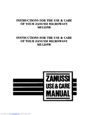 Zanussi ME1205B Use & Care Manual