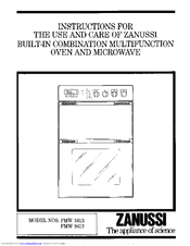 Zanussi FMW 5613 Instructions For Use And Care Manual