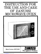 Zanussi MW722M Use And Care Instructions Manual