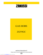 Zanussi ZGF982C Instruction Booklet
