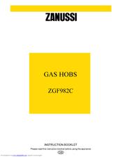 Zanussi ZGF982C Instruction Booklet