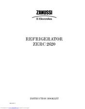 zanussi electrolux zerc 2620 manuals rh manualslib com