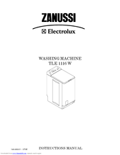 Zanussi TLE 1116 W Instruction Manual
