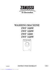 Zanussi ZWF 1220S Instruction Booklet